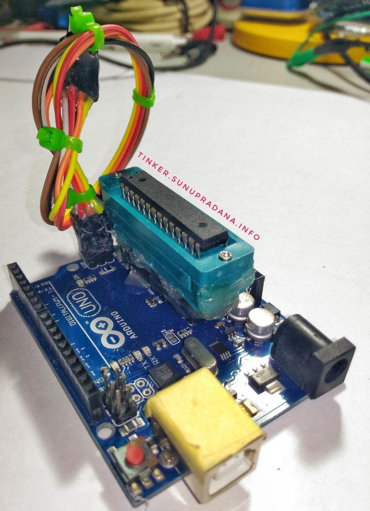 Arduino Uno plus ZIF socket – Tinker