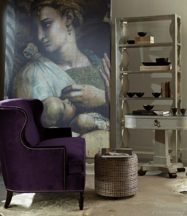 Bernhardt Purple Wing Back Chair Debuts at Fall High Point Market | The Decorating Diva, LLC