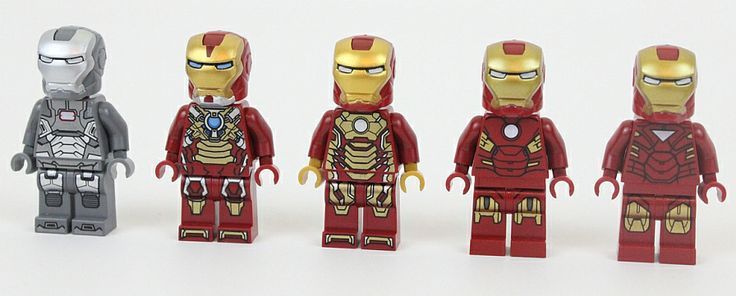Lego Iron Men (Left to right) War Machine MK 17 ...  Lego