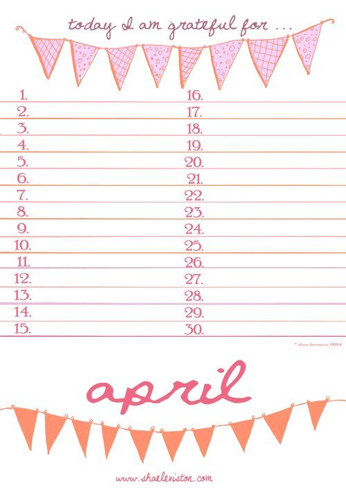 Today I am Grateful for ... Free Printable for April! Print yours out here ... http://thebutterflycollector.typepad.com/the_butterfly_collector/2014/04/today-i-am-grateful-for-free-printable-for-april.html