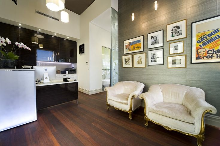 Glamorous Beautiful Dental Office Design Ideas: Luxury Beautiful Beautiful Dental Offices Receptionist With Cool Desk And White Sofas Also Pictures On Wall Decoration And Stylish Hanging Pendant Lamp Aand Wooden Floor Ideas ~ shokoa.com Interior Design Inspiration