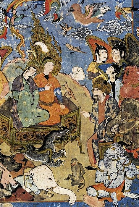 King Solomon and the Queen of Sheba. 16th c. Persian art. Safavid period. Miniature Painting. © AISA/Everett Collection