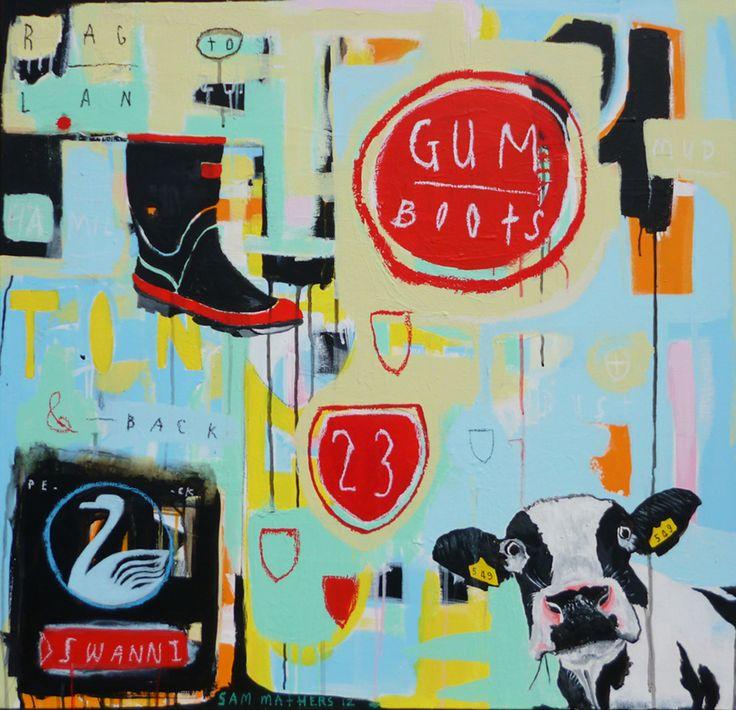gumboots - Sam Mathers, NZ artist
