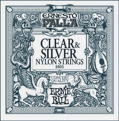 Ernie Ball Clear & Silver Nylon Strings | Ernesto Palla | 2403
