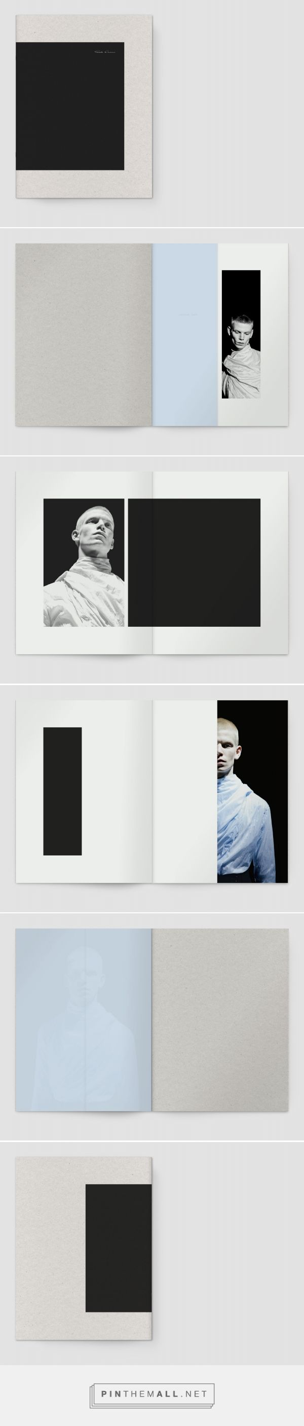 vertical strips of visuals that frame the written piece (which can perhaps be in the center)