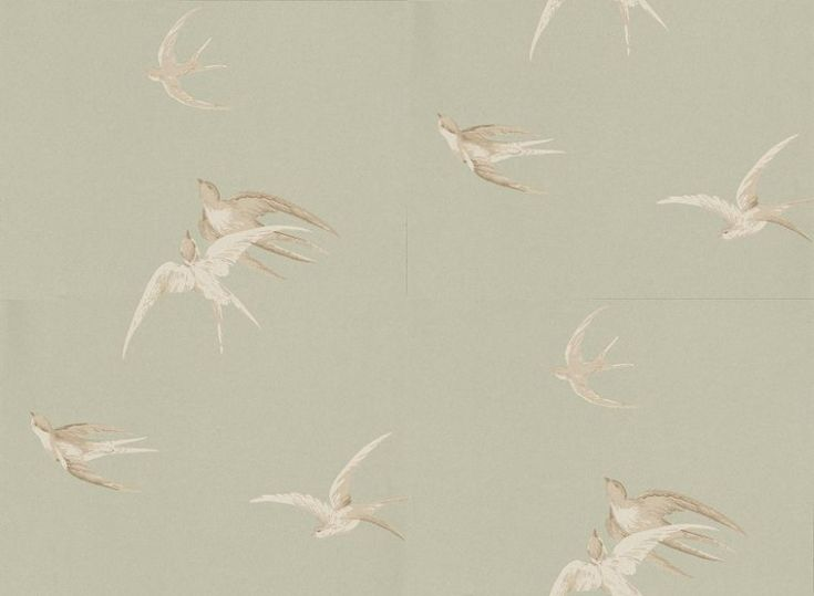 13 best images about bathroom wallpapers on pinterest - Sanderson swallows wallpaper pebble ...