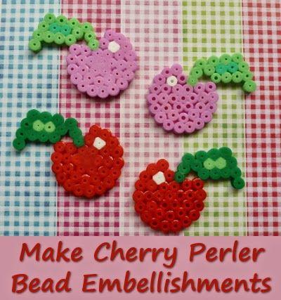 Make your own cherry perler bead embellishments