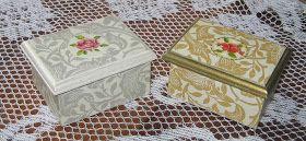 Caja porta pinceles con decoupage  Cajas pequeñas con decoupage Caja mediana con decoupage y decoración con cinta con motivo de guarda pampa...