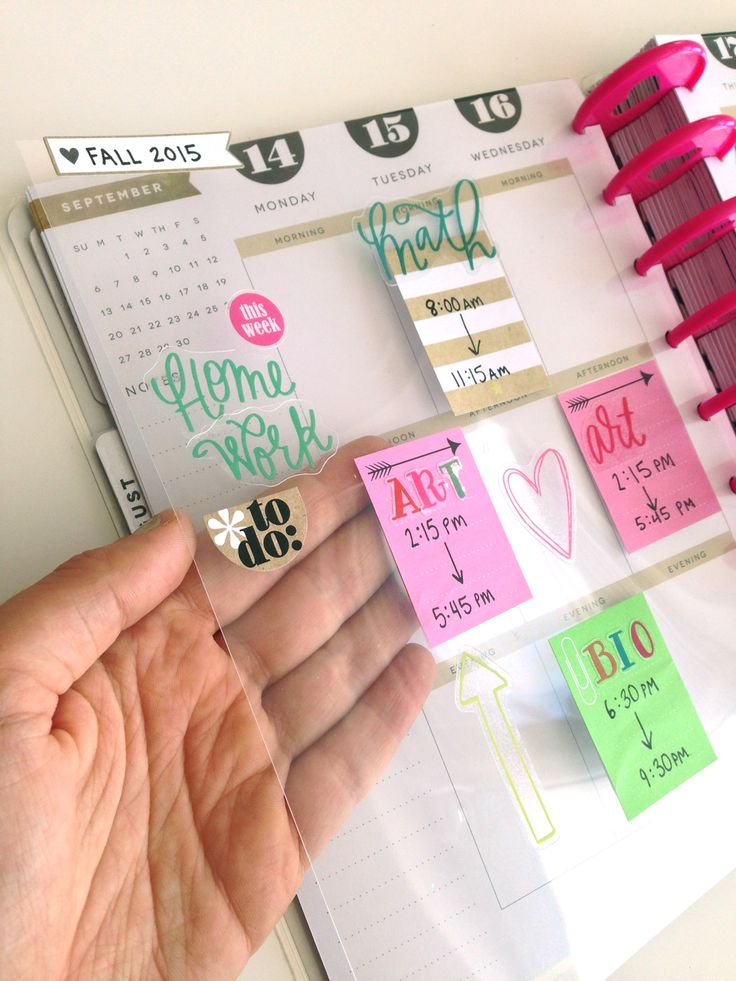 a overlay of classes to move from week to week in your Happy Planner by mambi Social Media Coordinator Amanda Zampelli | me &  my BIG ideas