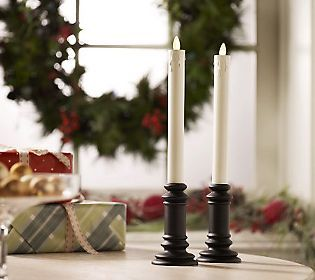 New Luminara taper candles. A cool style for your home.