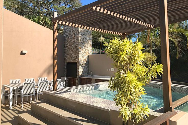 Eden Palms Penthouse Apartment - Chakas Rock / Shakas Rock, North Coast, KZN Click to see more http://www.wheretostay.co.za/eden-palms-penthouse-apartment-self-catering-accommodation-chakas-rock  Upmarket, modern self-catering apartment in a secure complex, suitable for 4 people. Beautiful sea views from the main bedroom, living areas and patio, plunge pool, seating and braai facilities on patio. Communal swimming pool and braai facilities on the property.