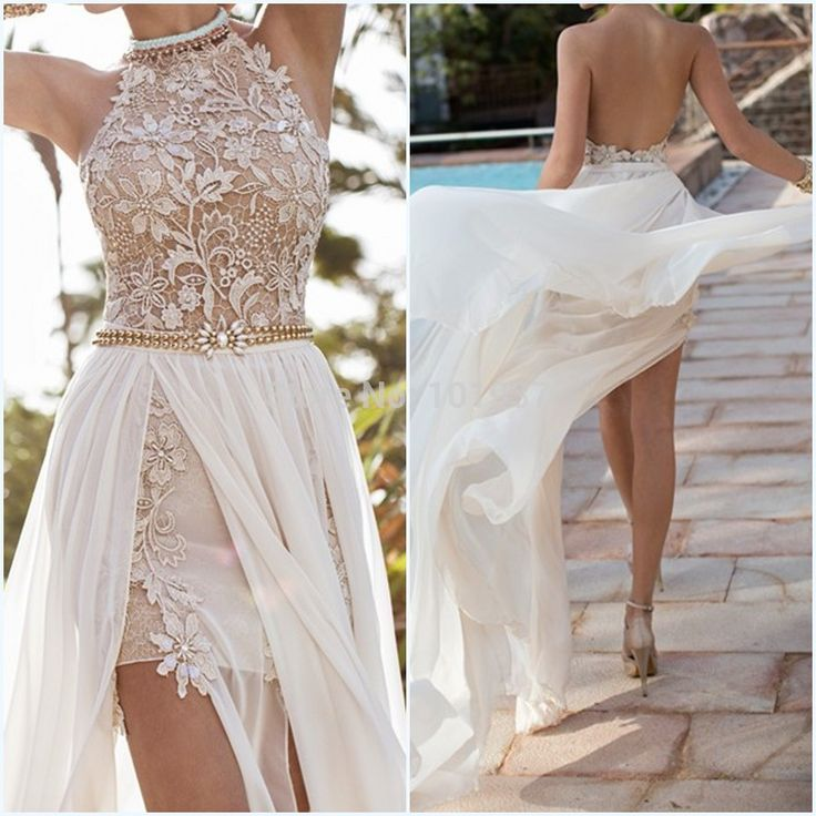 Find More Evening Dresses Information about Hot Julie Vino Halter Lace Sexy High Slit Open Back Beach Long Train Prom Dress Party Evening Elegant Special Occasion Dresses,High Quality lace led,China lace evening gown Suppliers, Cheap lace long sleeve wedding gown from Suzhou Babyonline Dress Co. , Ltd on Aliexpress.com