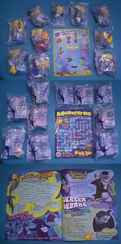 Fast Food 767: Burger King 2004 - Shark Tale - Complete Set Of 10 Mip Plus Brochure -> BUY IT NOW ONLY: $79 on eBay!