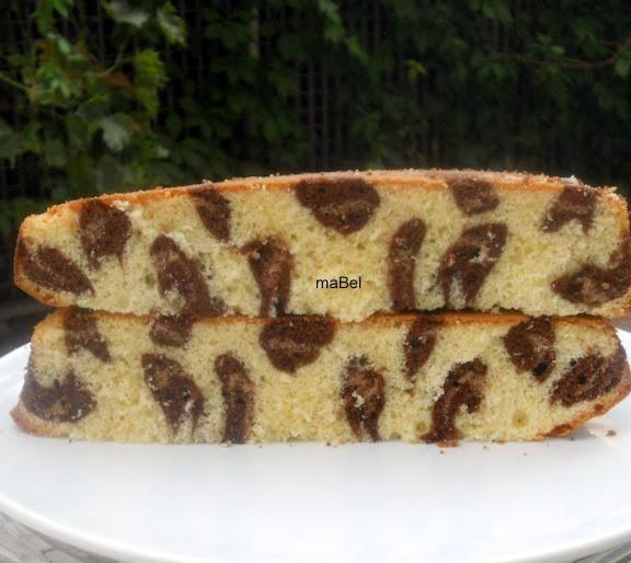 Torta leopardo - Leopard print cake inside - Paperblog