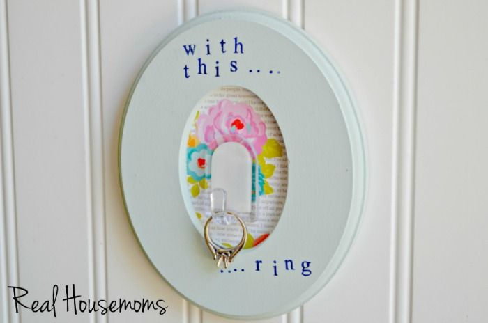 I'm SO excited to announce I'm a member of the Real Housemoms Creative Team! Each month I'll be sharing a craft idea with her readers and you guys and this month I shared this fun Engagement Ring Holder! Check it out!! DIY Engagement Ring Holder