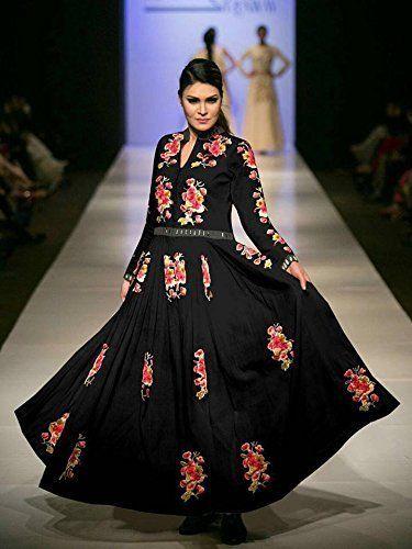 Khazanakart Fashion Black georgette style bollywood dress... http://www.amazon.in/dp/B01GJXOWDC/ref=cm_sw_r_pi_dp_zn2Dxb02CGYK8
