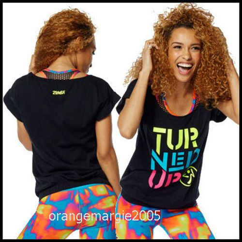 Zumba Fitness Turned Up Bubble Tee Tank Top ---Just Gorgeous!! Z1T01212 S M L XL…