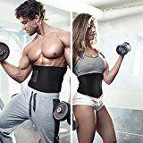 Waist Trimmer Belt, OMorc Adjustable Belly Fat Burner, Weight Loss Belt, Spot Reduction Belt for Men and Women-Black - https://www.trolleytrends.com/?p=457183