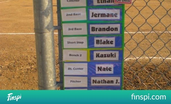 Awesome idea for baseball/t-ball dugout organization.  (wishing I was a dugout mom again...) Maybe a little juvenile for 12 & Under, but Steele starts t-ball next season! :) | See more about Organizations, Awesome and Baseball. #ideas #awesome #seasons #baseball #mom #coaches #organizations #charts #dugout