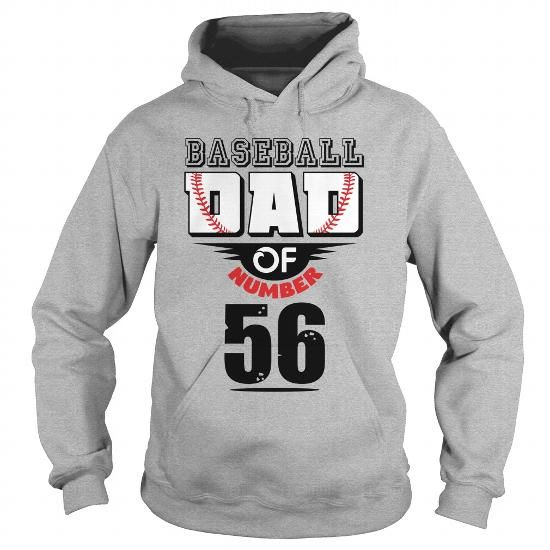 Baseball dad of number 56 T-Shirts & Hoodies Check more at https://teemom.com/sports/baseball-dad-number-56.html