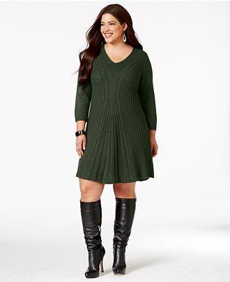 Plus size sweater dress for women