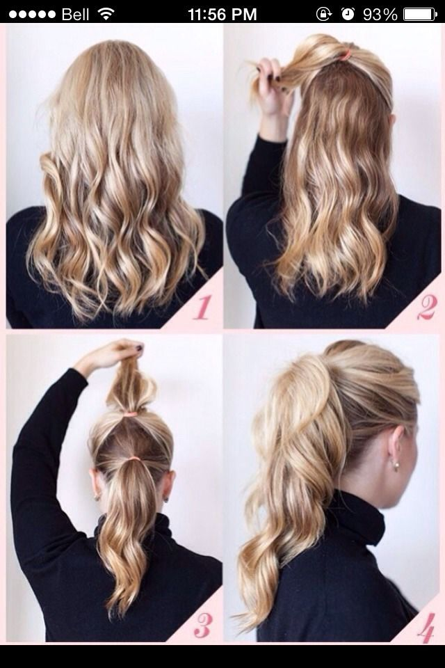 How To Make A Ponytail Look Fuller....when my hair is long again