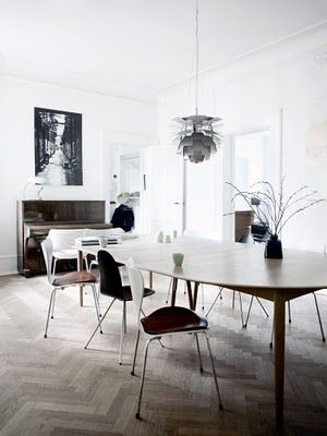 wegner dinning table and herringbone floors