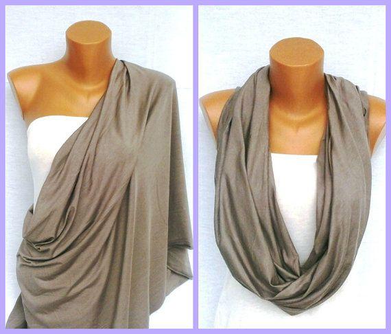 Infinity Bеige Nursing scarf Nursing cover up Eco by VesyScarves, $17.99