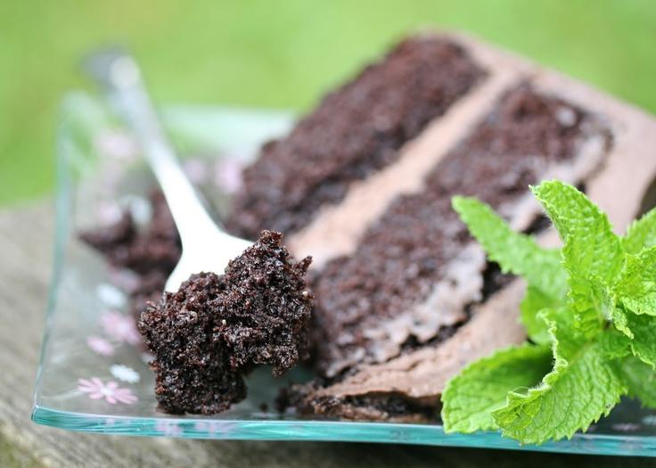 Coffee Chocolate Layer Cake with Mocha Mascarpone Frosting