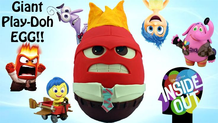 Giant Inside Out Anger Play Doh Surprise Egg Inside Out