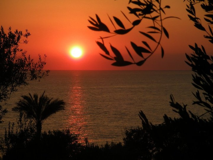 Sunset in Salerno