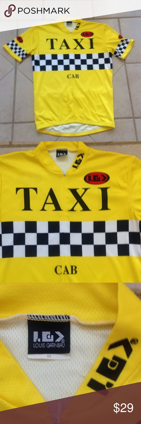 LOUIS GARNEAU Cycling Bike Top.  Sz M LOUIS GARNEAU Yellow TAXI Cycling/Bike Jersey Top that measures 29 inches from armpit to armpit; and is 29 inches in overall length. louis garneau Other
