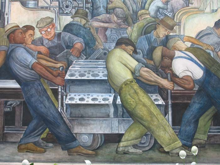 Diego Rivera (Mexican, 1886–1957) Mural at the Detroit Institute of Arts, 1932-33