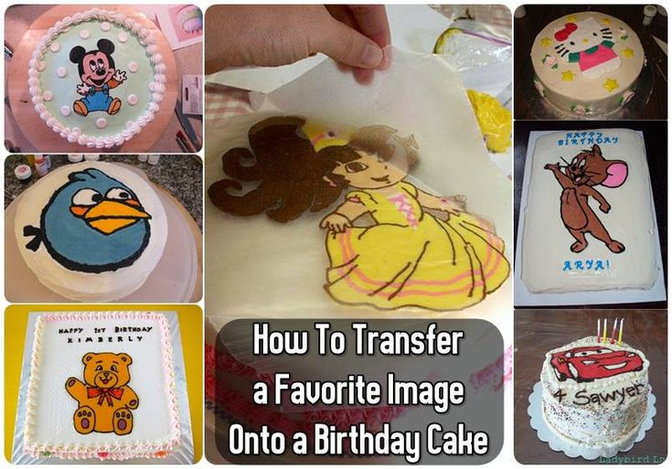 transfer an image to a cake