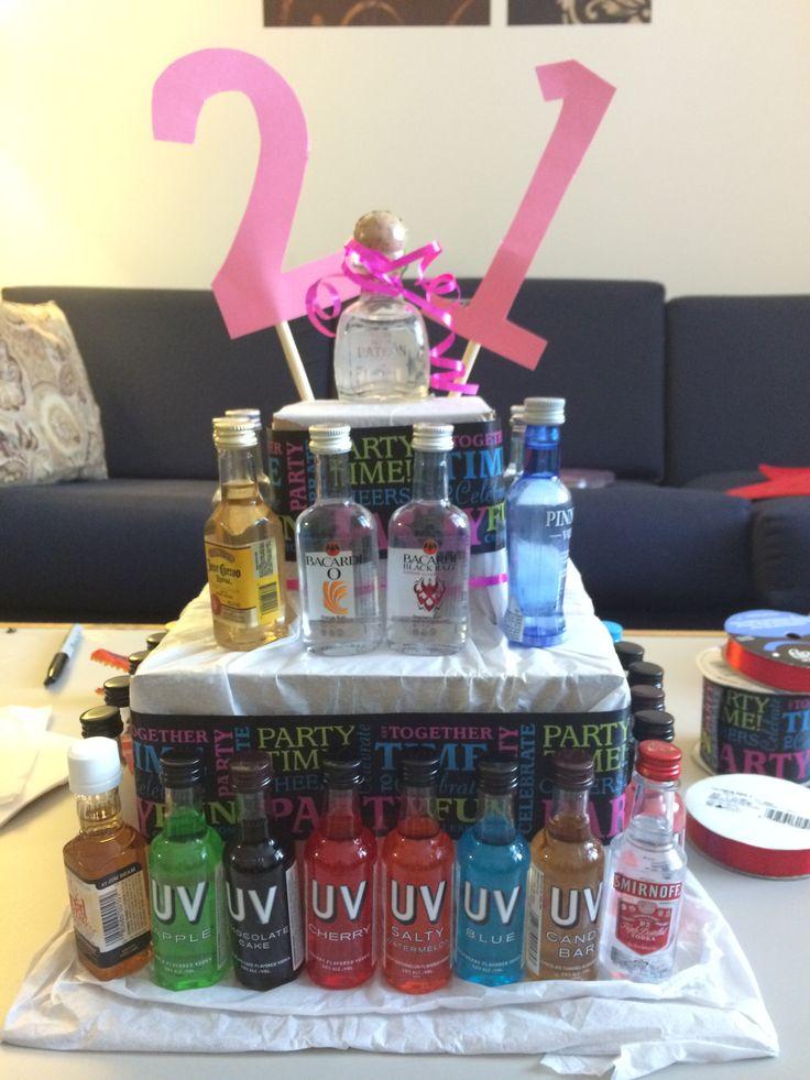 21st birthday alcohol cake | easy DIY cake decorating ...