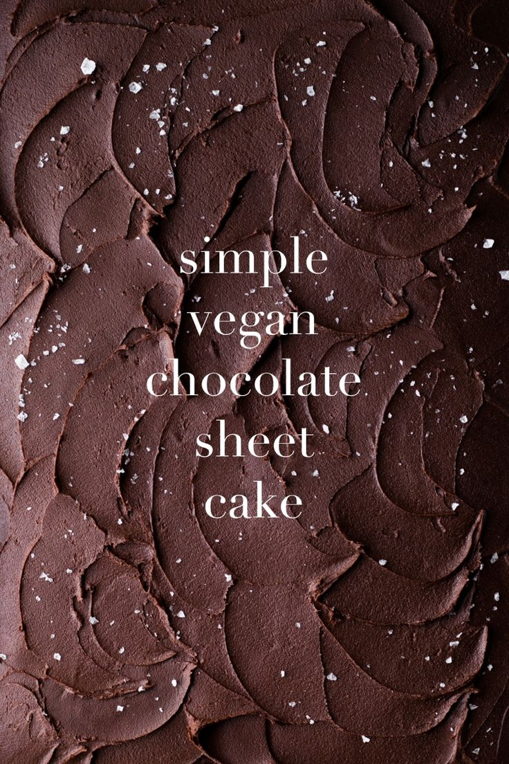 simple vegan chocolate sheet cake