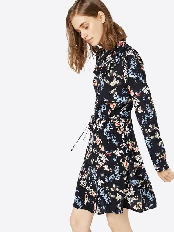 TOM TAILOR DENIM Kleid 'printed ruffle' in blau bei ABOUT YOU bestellen. ✓Versandkostenfrei ✓Zahlung auf Rechnung ✓kostenlose Retoure