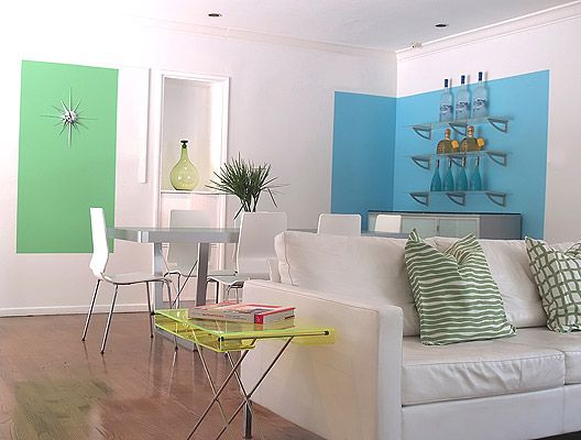 Turquoise hollywood hills home living dining room dining