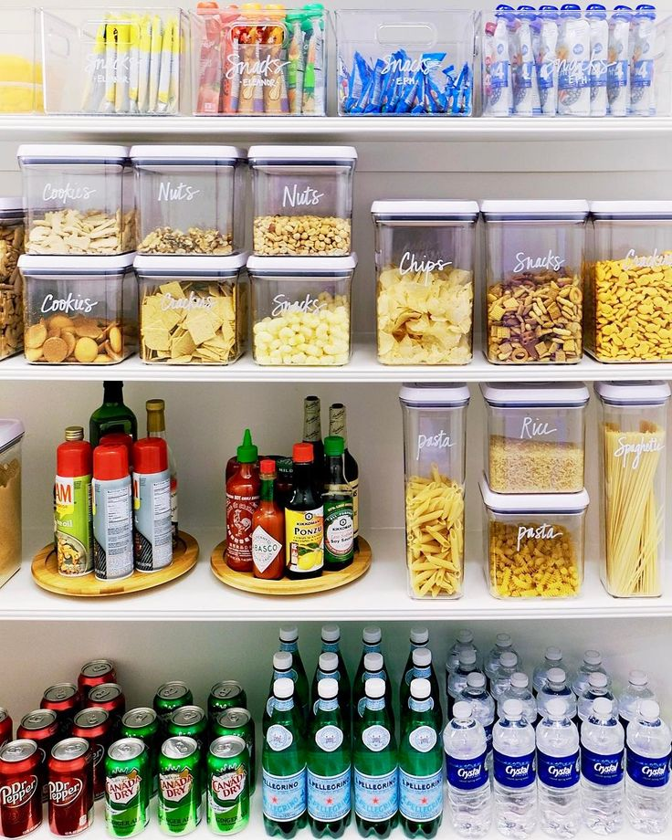 """1,026 Likes, 29 Comments - The Home Edit ® (@thehomeedit) on Instagram: """"Snack shelf, dinner shelf, and a beverage shelf  We use @oxo products and turntables to help…"""""""