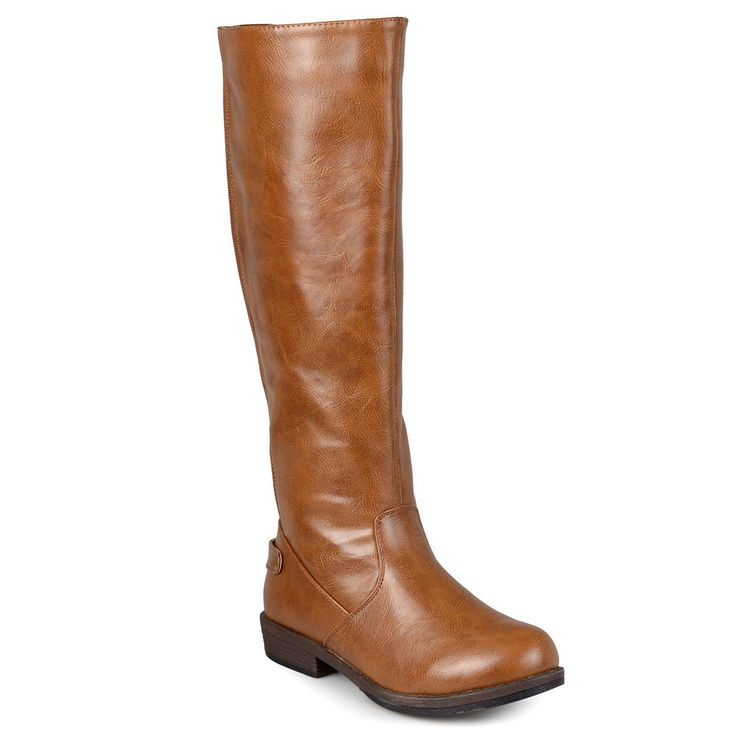 Journee Collection Lynn Women's Tall Riding Boots, Size: 9.5 Wc, Brown