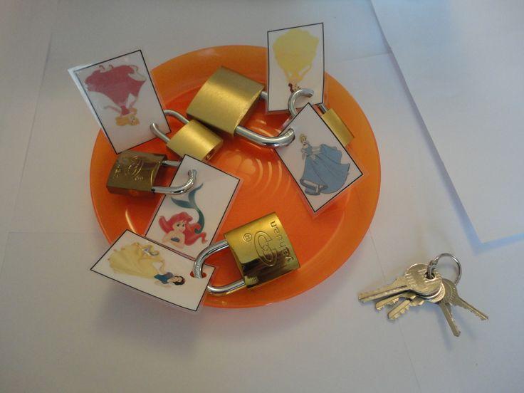 Atelier individuel autonome: Les cadenas: délivrer les princesses.