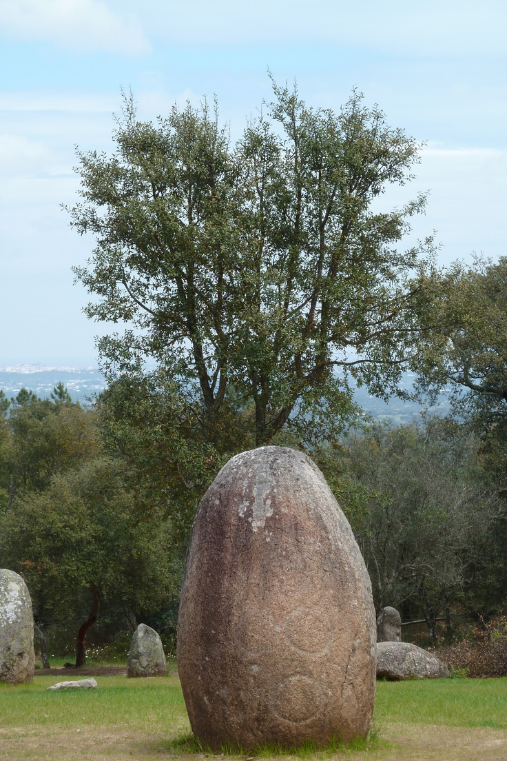 Almendres Cromlech, located near Guadalupe - Evora - Portugal