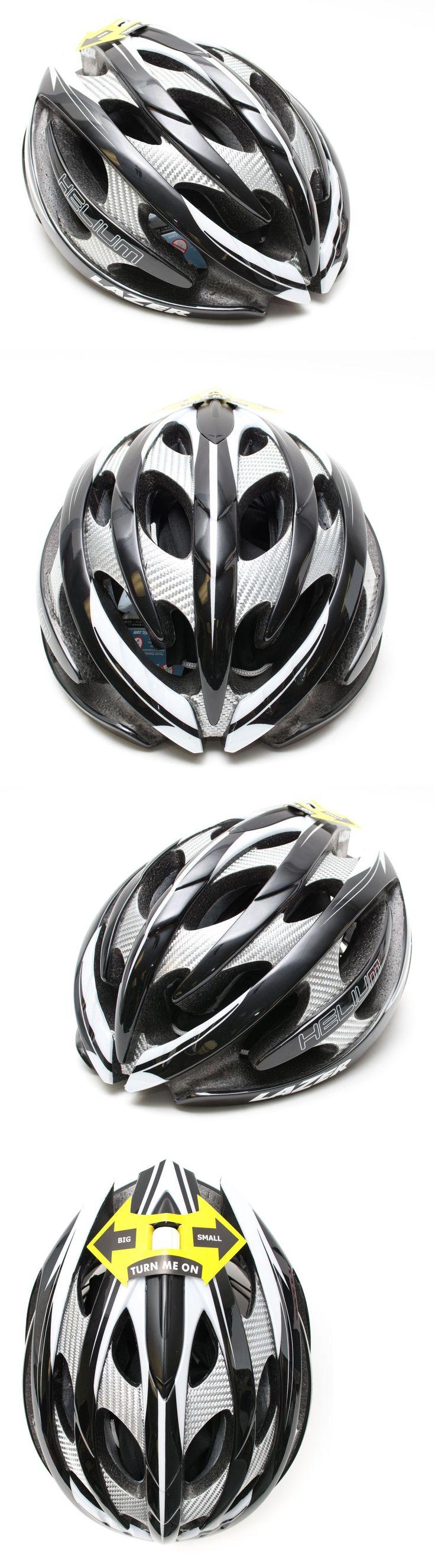 Helmets 70911: Lazer Helium Road Mountain Cyclocross Bike Helmet Adjustable M-L Black/White New BUY IT NOW ONLY: $59.95