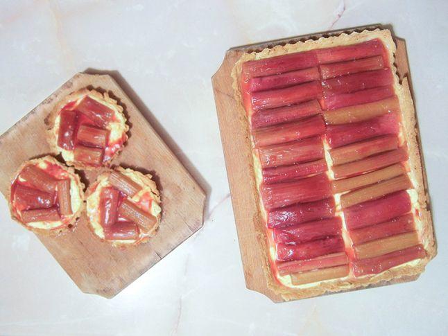 Tarta frantuzeasca cu rubarba  #rhubarb #tart #vanillacream