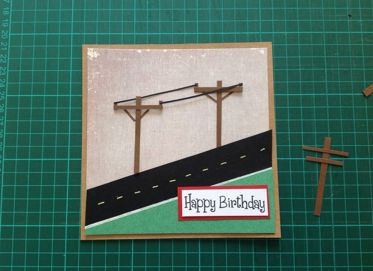 The same customer wanted a lineman inspired birthday card...
