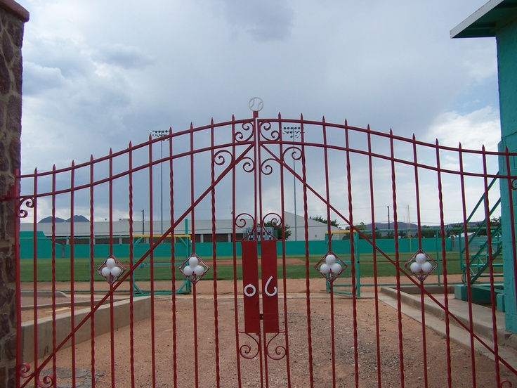 Texas Gates - One of the gates at the Kokernot Field in Alpine, Texas.  The baseball stadium was built by legendary rancher Herbert Kokernot (06 Ranch) for his semi-pro team and then Sul Ross State University baseball team which he sponsored.