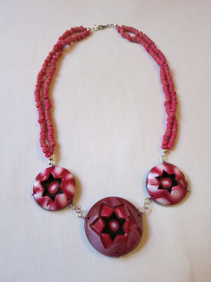 Hand made polymer clay necklace.  https://www.facebook.com/Anna-Donna-%C3%A9kszer-231340573715505/
