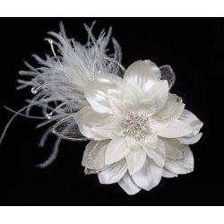Flower & Feather Fascinator