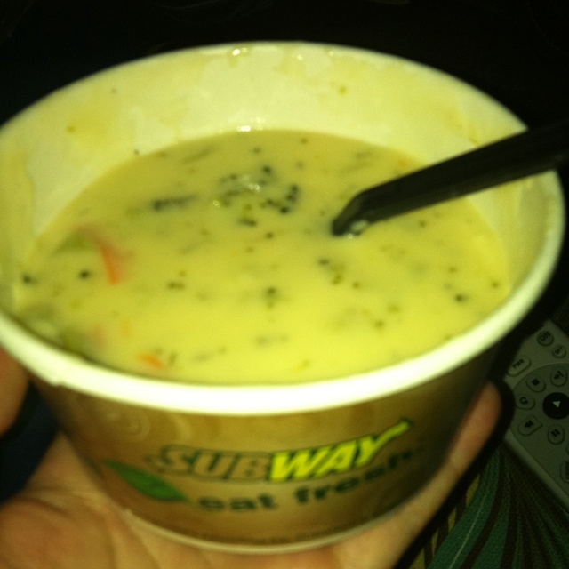 Subway's broccoli and cheese soup!