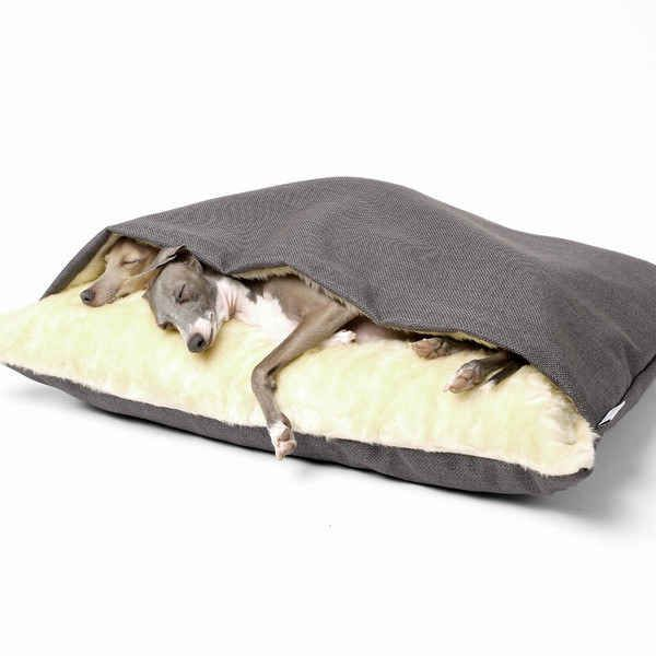 The Snuggle Bed: for your favorite cuddle bug. Bailey and Shorty need this.